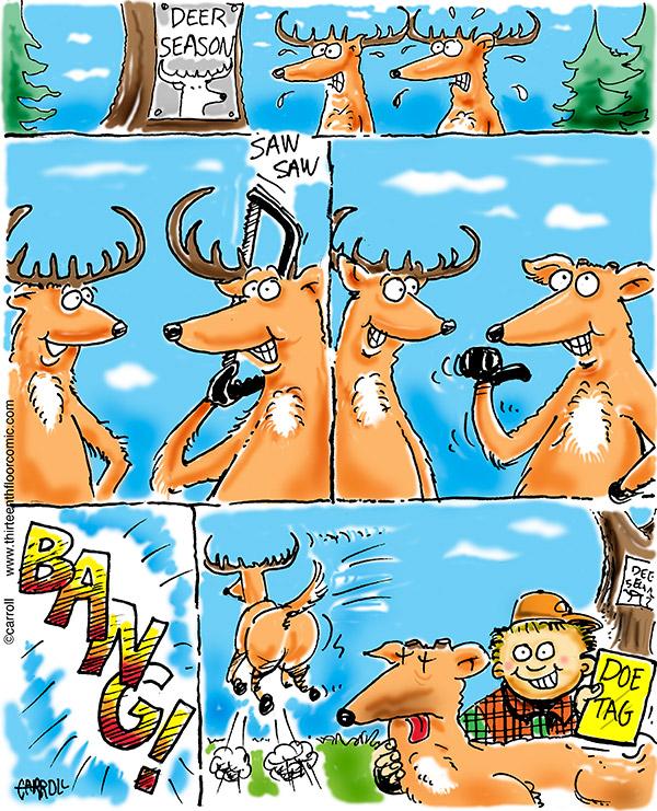 whitetail doe-tag-cartoon