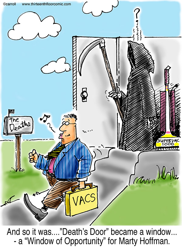 Vacuum Salesman at Death's Door Gifts