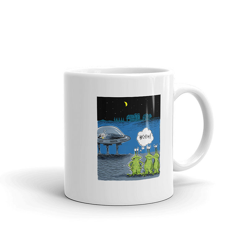 area 51 aliens lose keys coffee mug 11oz