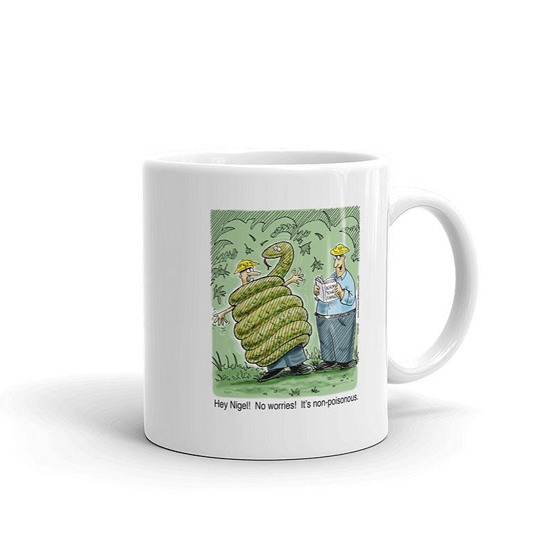 non-poisonous snake coffee mug 11oz