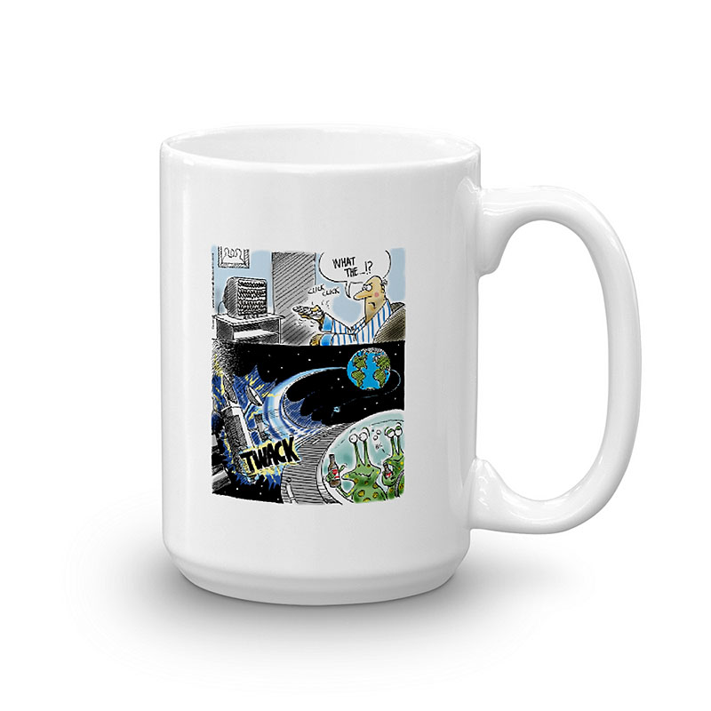 alien DUI coffee mug 15oz