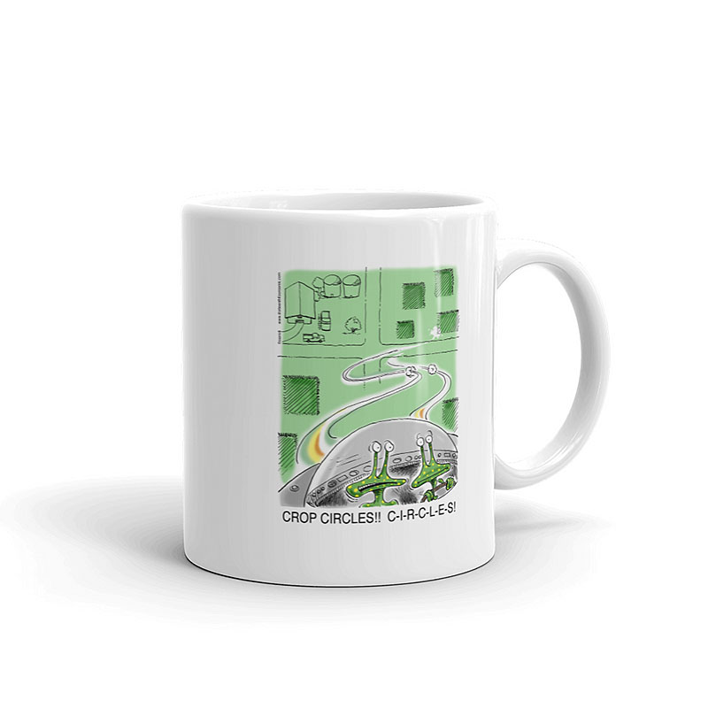 alien crop circles coffee mug 11oz