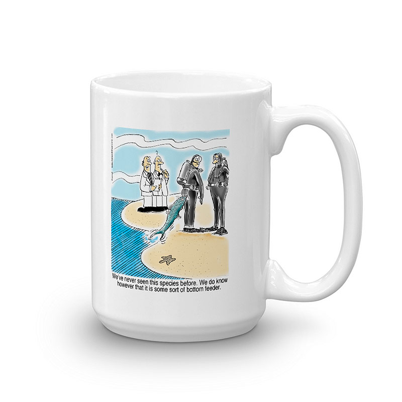 bottom feeder coffee mug 15oz