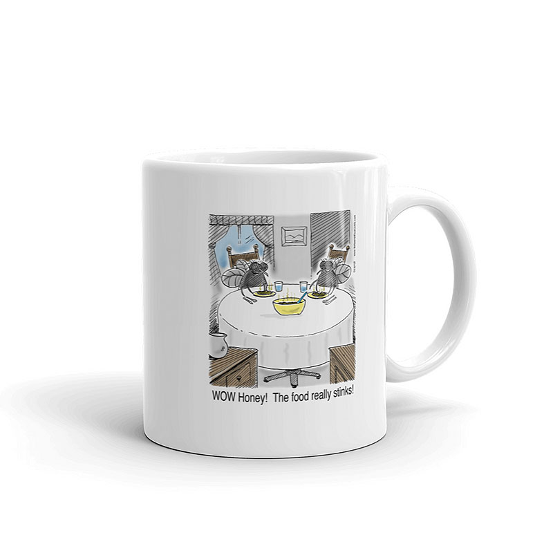 food really stinks coffee mug 11oz