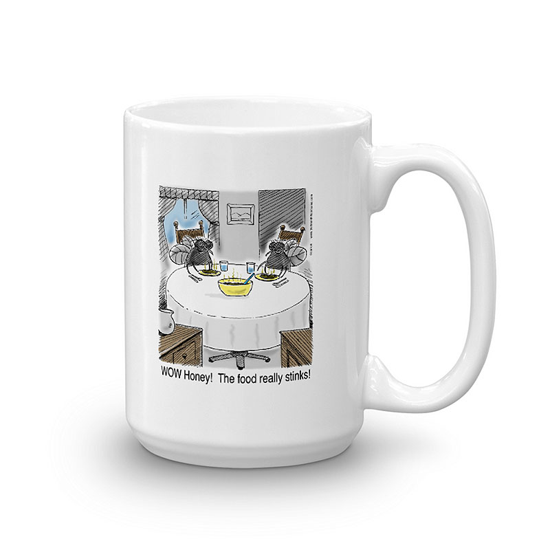 food really stinks coffee mug 15oz