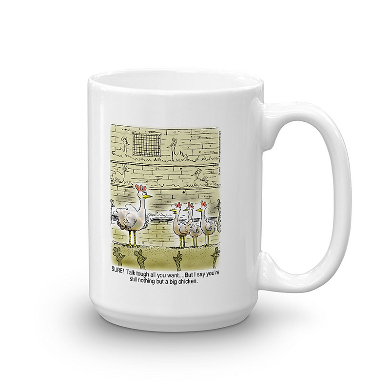 big chicken coffee mug 15oz