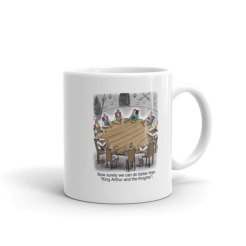 king Arthur knights round table coffee mug 11oz