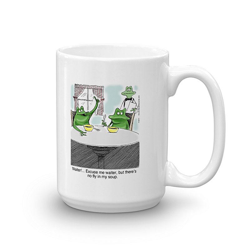 no fly in my soup coffee mug 15oz