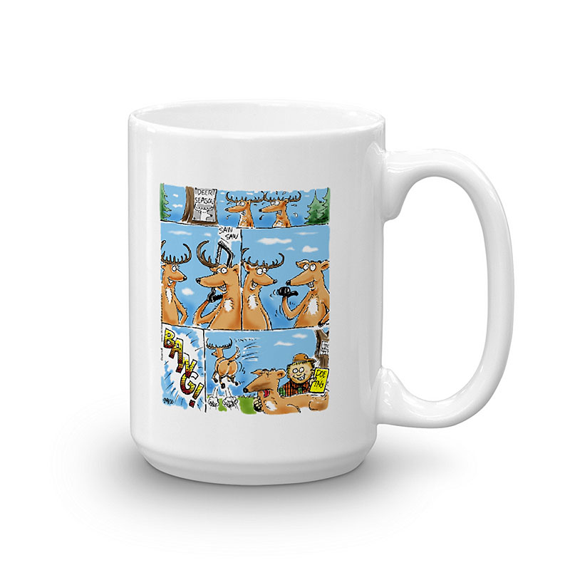 doe tag coffee mug 15oz