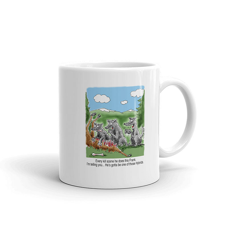 wolf hybrid coffee mug 11oz