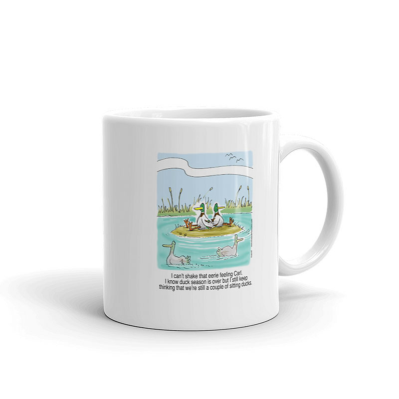 sitting hunting ducks coffee mug 11oz