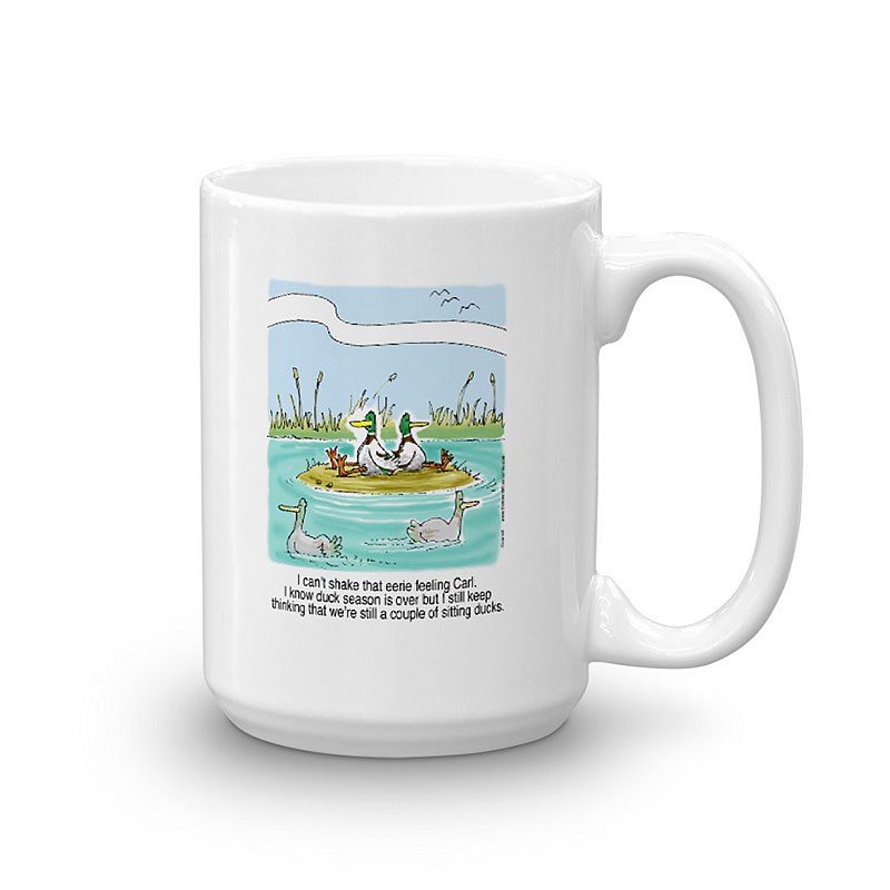 sitting ducks coffee mug 15oz