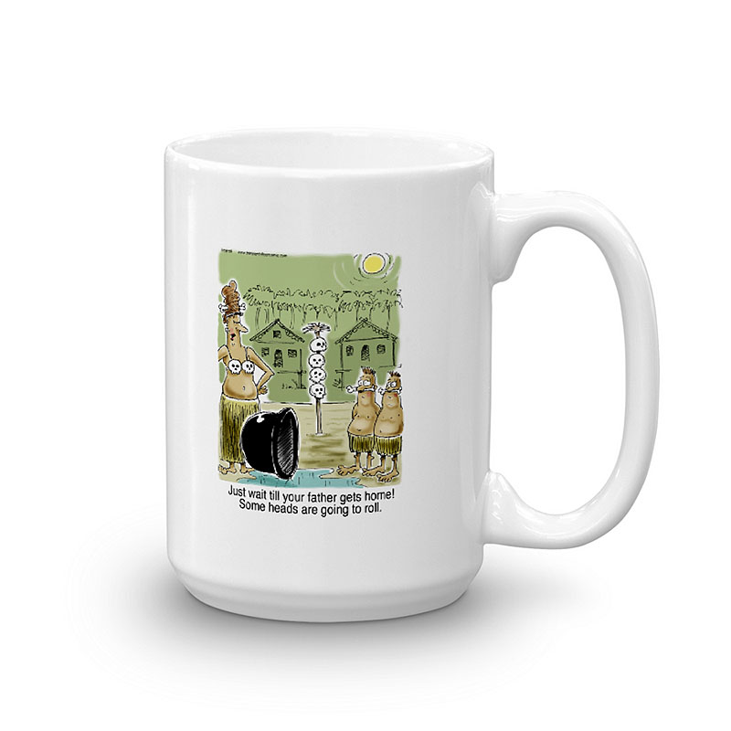 heads are going to roll coffee mug 15oz