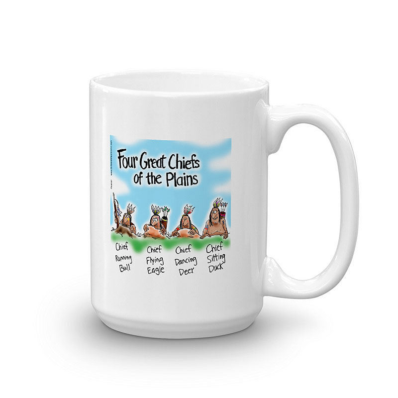 four great indian chiefs coffee mug 15oz