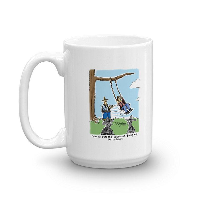 swing him from a tree coffee mug 15oz