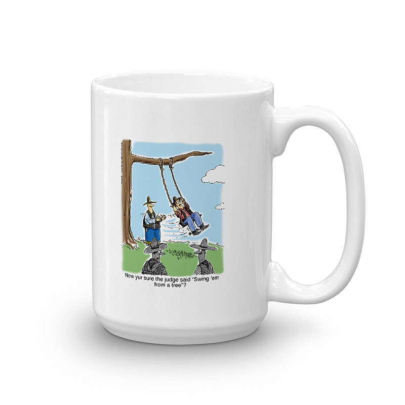swing him from a tree coffee mug 15oz